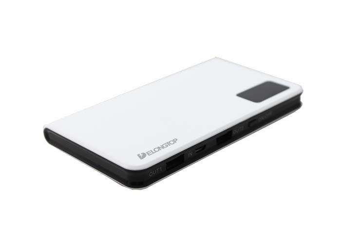 Smart Display 10000mah Pocket Li Polymer Power Bank Dual USB  Mosaic Design