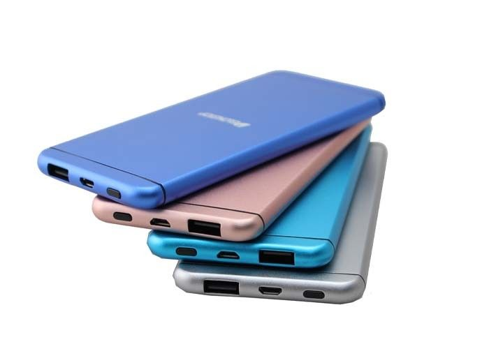 Metal Slim 5000mah Quick Charge 2.0 Power Bank  8.5mm Thickness