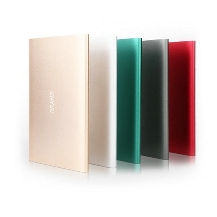 Ultra Thin 20000mAh Li Polymer Power Bank Portable / cell phone battery bank Charger